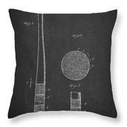 Baseball Bat Patent Drawing From 1920 Throw Pillow