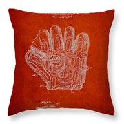 Baseball Glove Patent Drawing From 1924 Throw Pillow
