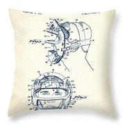 Baseball Mask Patent White Us2627602 A Throw Pillow