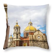 Basilica Of Our Lady Of Guadalupe Throw Pillow