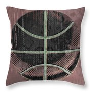 Basketball Abstract Throw Pillow by David G Paul