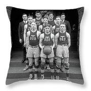 Basketball Team, 1920 Throw Pillow