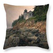 Bass Harbor Head Light II Throw Pillow