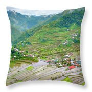 Batad Village And Unesco World Heritage Throw Pillow