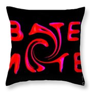 Bates Motel In Blood And Twisted Throw Pillow