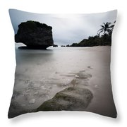 Bathsheba Beach Barbados Throw Pillow