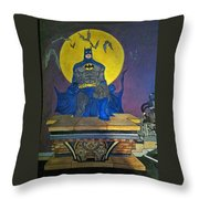 Batman On The Roof Top Throw Pillow