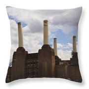 Battersea Power Station London Throw Pillow