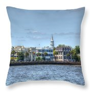 Battery Homes Throw Pillow