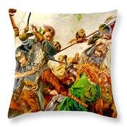 Battle Of Grunwald Throw Pillow
