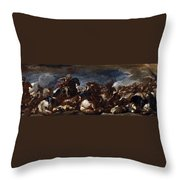 Battle Of Saint-quentin Throw Pillow