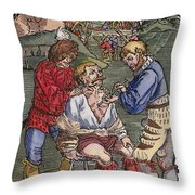 Battlefield Surgeon, 1540 Throw Pillow