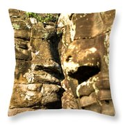 Bayon Faces - Angkor Wat - Cambodia Throw Pillow