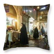 Bazaar Market In Isfahan Iran Throw Pillow