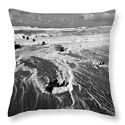 Beach 39 Throw Pillow