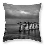 Beach 19 Throw Pillow