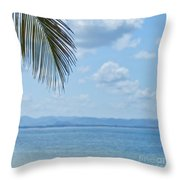 Beach Background Throw Pillow