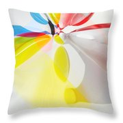Beach Ball Flower Throw Pillow