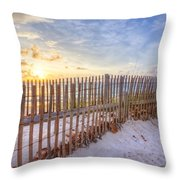 Beach Fences Throw Pillow