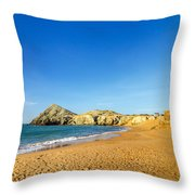 Beach In La Guajira Colombia Throw Pillow