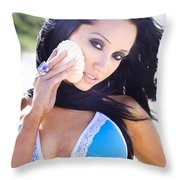 Beach Sightseeing Tour Throw Pillow