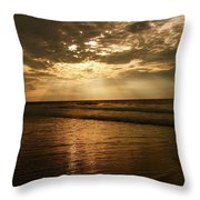 Beach Sunrise Throw Pillow by Nelson Watkins