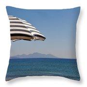 Beach Umbrella Throw Pillow