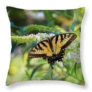 Beautiful Butterfly Pollination Throw Pillow