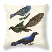 Beautiful Foreign Birds Throw Pillow
