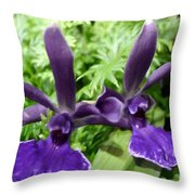 Beautiful Orchid Flower  Throw Pillow