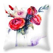 Beautiful Roses Flowers Throw Pillow