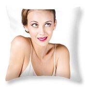 Beautiful Young Woman Throw Pillow