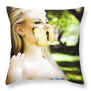 Beauty In Silence Throw Pillow
