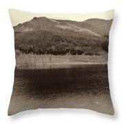 Beauty Of A Loch And Natural Surroundings In The Scottish Highlands Throw Pillow