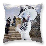 Bedlington Terrier Art Canvas Print Throw Pillow
