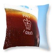 Beer Pint Glass Throw Pillow
