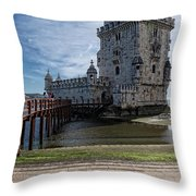 Belem Tower Throw Pillow