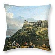 Bellotto's The Fortress Of Konigstein Throw Pillow