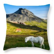 Below The Volcano Throw Pillow