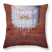 Ben Hur Coffee Throw Pillow