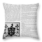 Benjamin Rush (c1745-1813) Throw Pillow