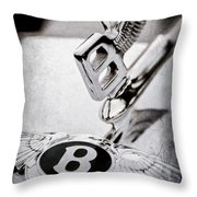 Bentley Hood Ornament - Emblem Throw Pillow