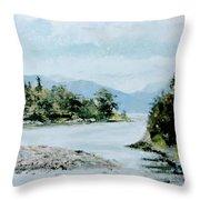 Berks Lake Throw Pillow