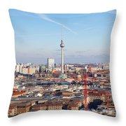 Berlin Cityscape Throw Pillow