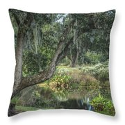 Beside The Pond Throw Pillow