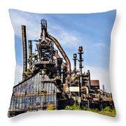 Bethlehem Steel Mill Throw Pillow