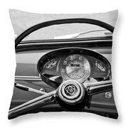 Bianchina Steering Wheel Throw Pillow