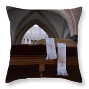 Bible In Temple Throw Pillow