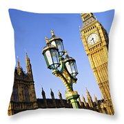 Big Ben And Palace Of Westminster Throw Pillow