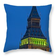 Big Ben London Throw Pillow